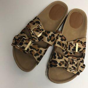 Breckelle's. Fatima Animal Print Sandals